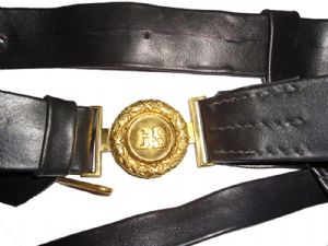Confederate Officers Leather Sword Belt